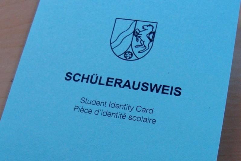 Anmeldung - Schülerausweis