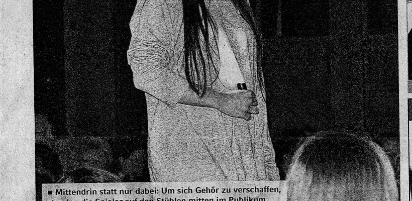 Oberstufen-Theater-AG in der Zeitung