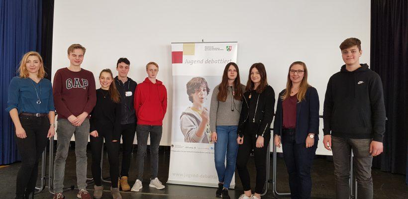 GBG erfolgreich beim Regionalentscheid von Jugend debattiert!
