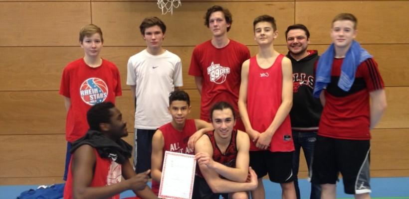3. Platz bei den Basketball-Stadtmeisterschaften