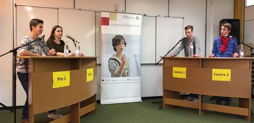 """""""Jugend debattiert"""" zu Gast am GBG"""
