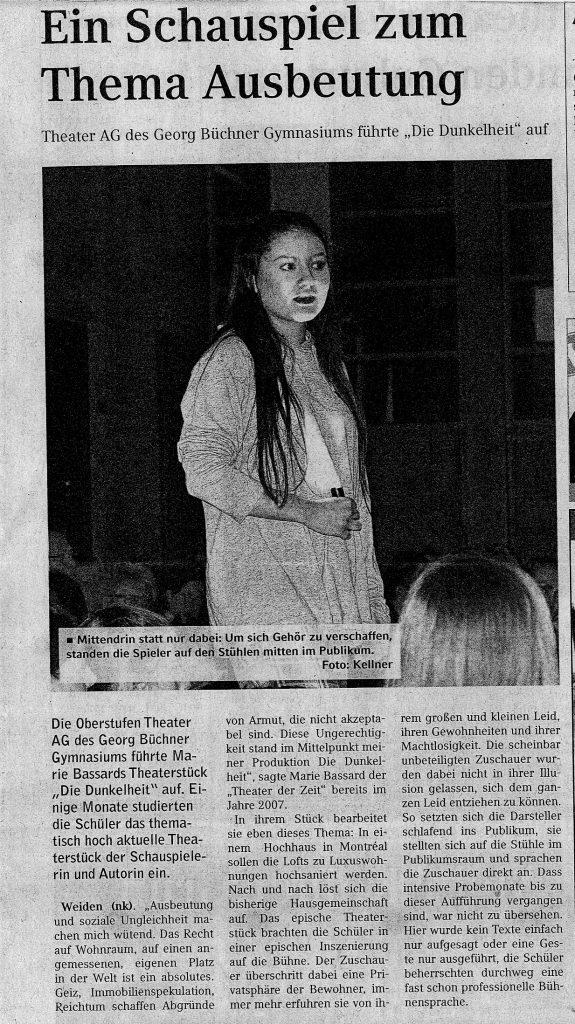 Theater 2017 Dunkelheit Artikel